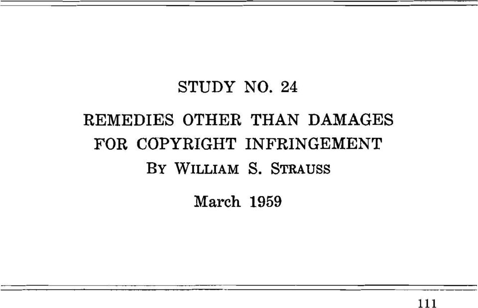 DAMAGES FOR COPYRIGHT