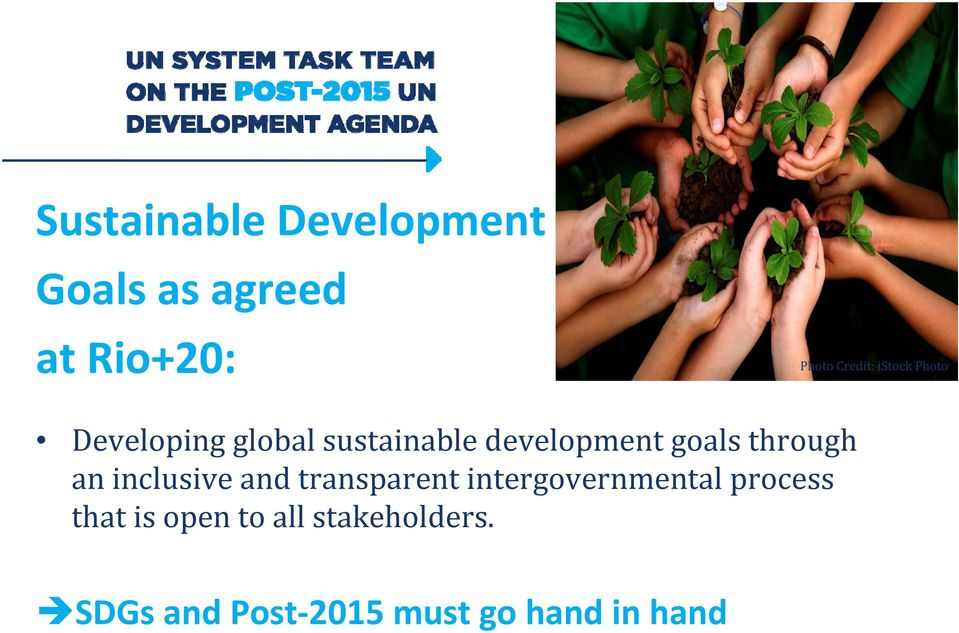 through an inclusive and transparent intergovernmental process
