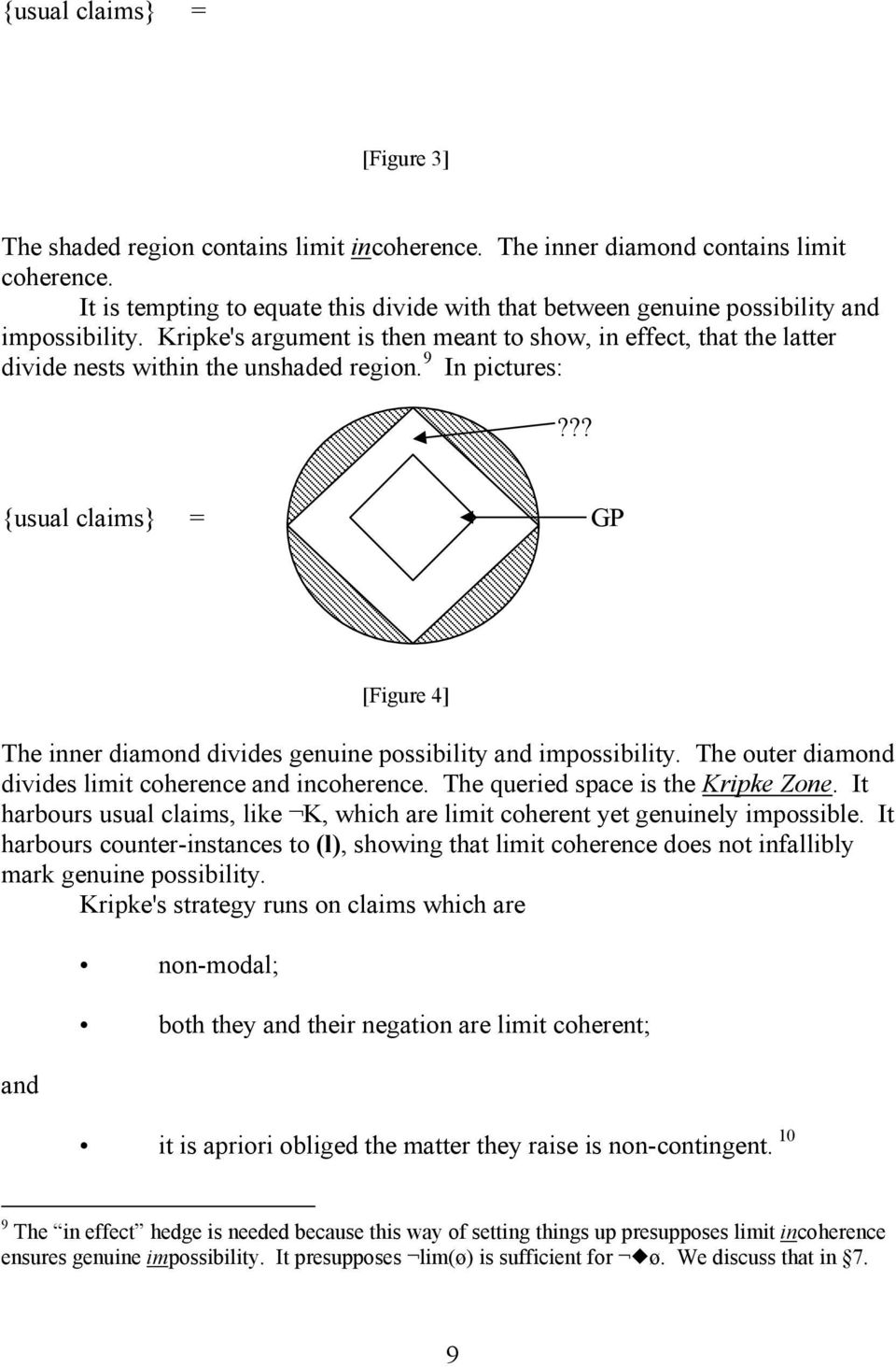 Kripke's argument is then meant to show, in effect, that the latter divide nests within the unshaded region. 9 In pictures:?