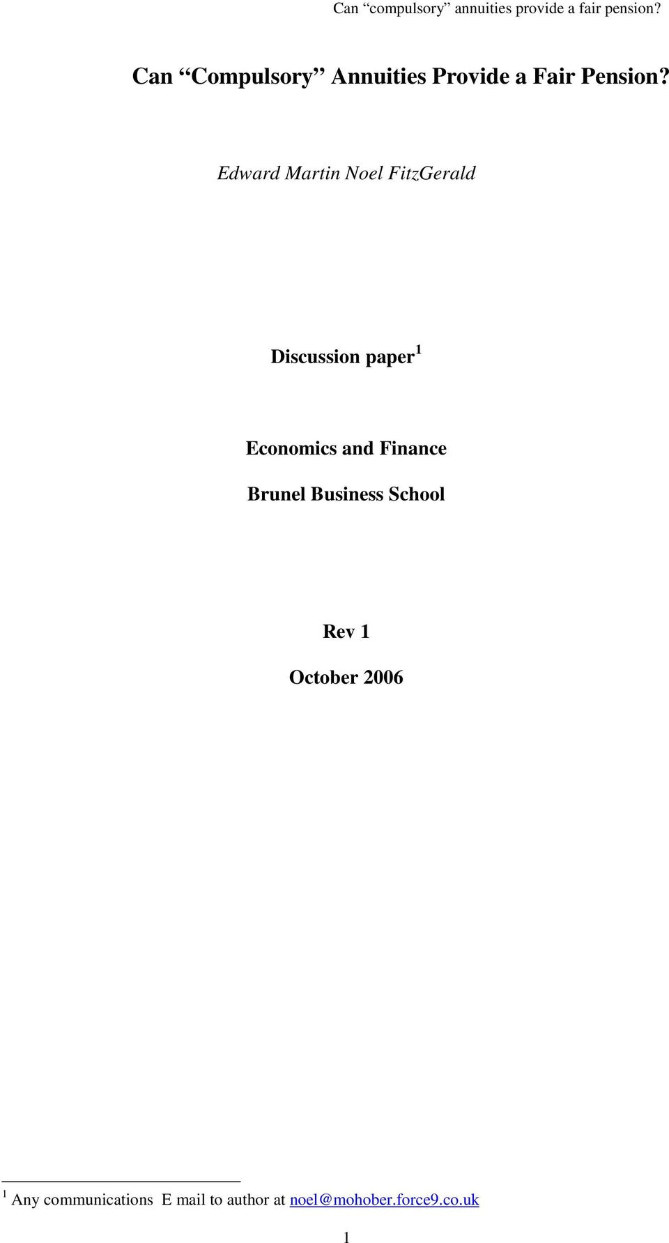 Economics and Finance Brunel Business School Rev 1