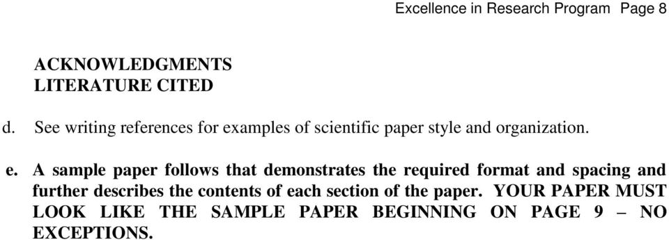 amples of scientific paper style and organization. e.