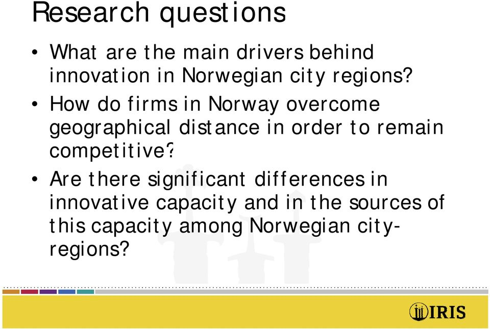 How do firms in Norway overcome geographical distance in order to remain