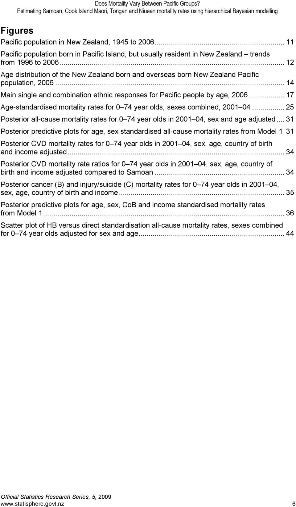 .. 17 Age-standardised mortality rates for 0 74 year olds, sexes combined, 2001 04... 25 Posterior all-cause mortality rates for 0 74 year olds in 2001 04, sex and age adjusted.