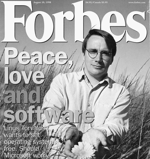 2. Peace, Love and Software, cover of Forbes, 10 August 1998. Used with permission of Forbes and Nathaniel Welch. involved.