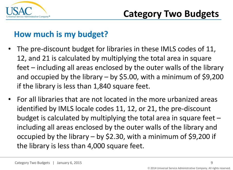 library and occupied by the library by $5.00, with a minimum of $9,200 if the library is less than 1,840 square feet.