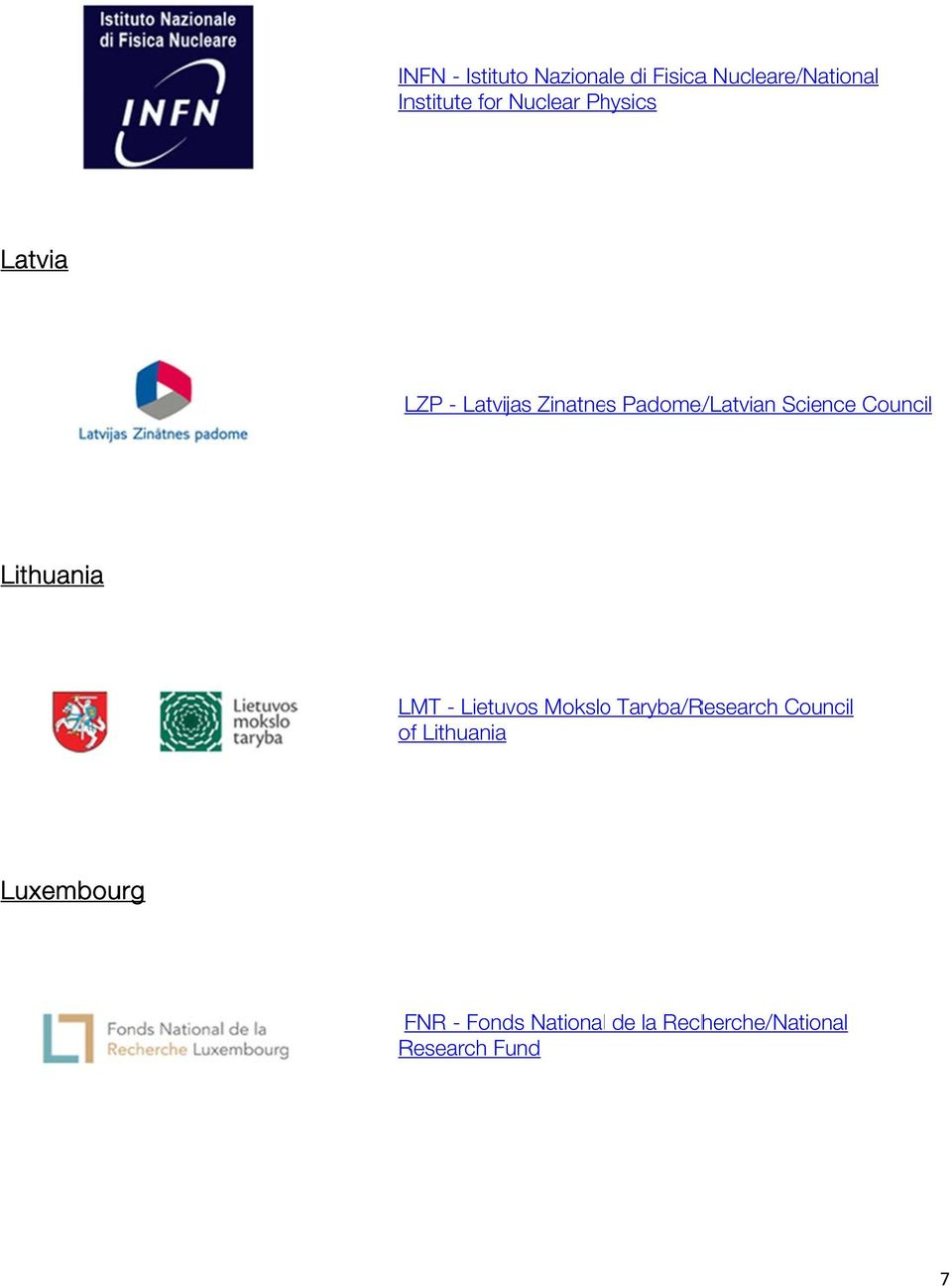 Council Lithuania LMT - Lietuvos Moksloo Taryba/Research Council of