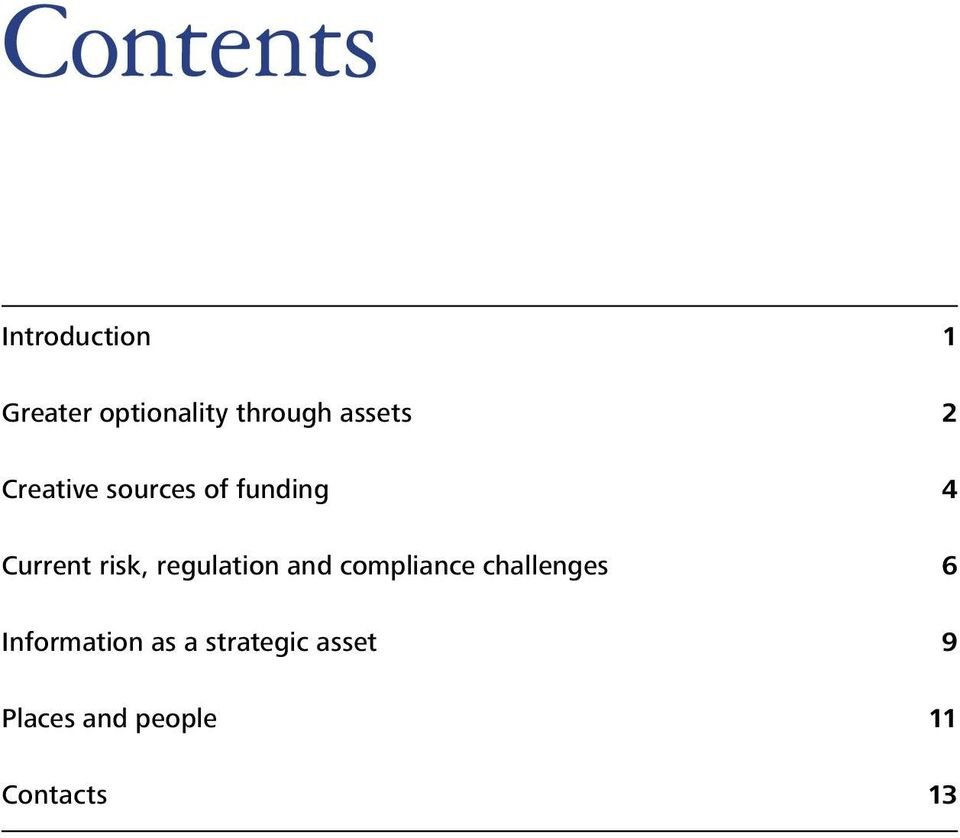 regulation and compliance challenges 6 Information