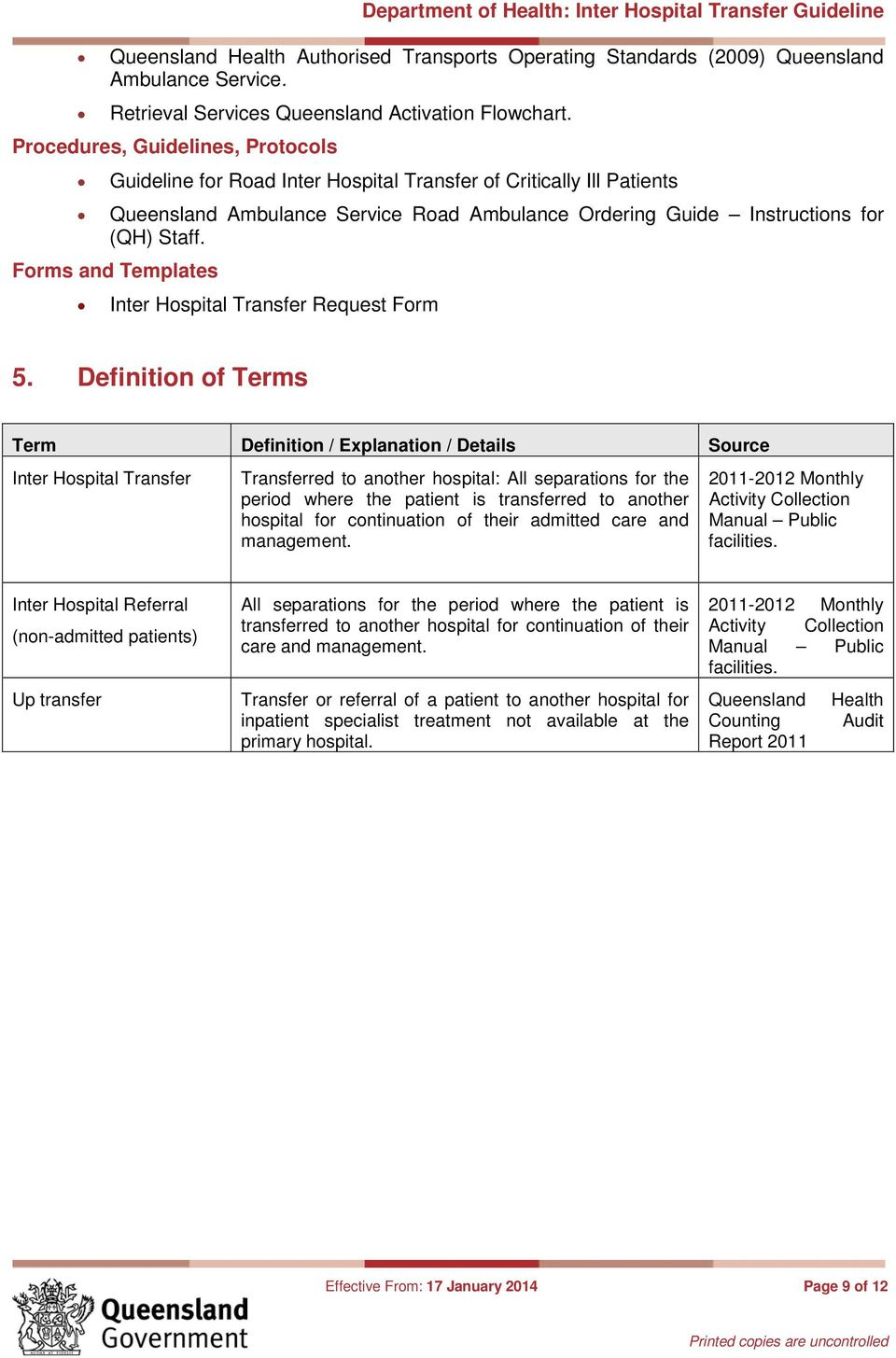 Forms and Templates Inter Hospital Transfer Request Form 5.