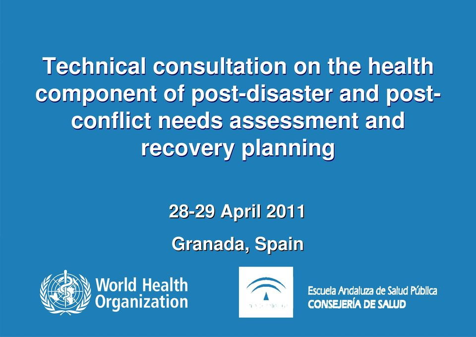 postconflict needs assessment and
