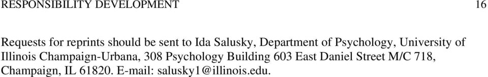 Illinois Champaign-Urbana, 308 Psychology Building 603 East