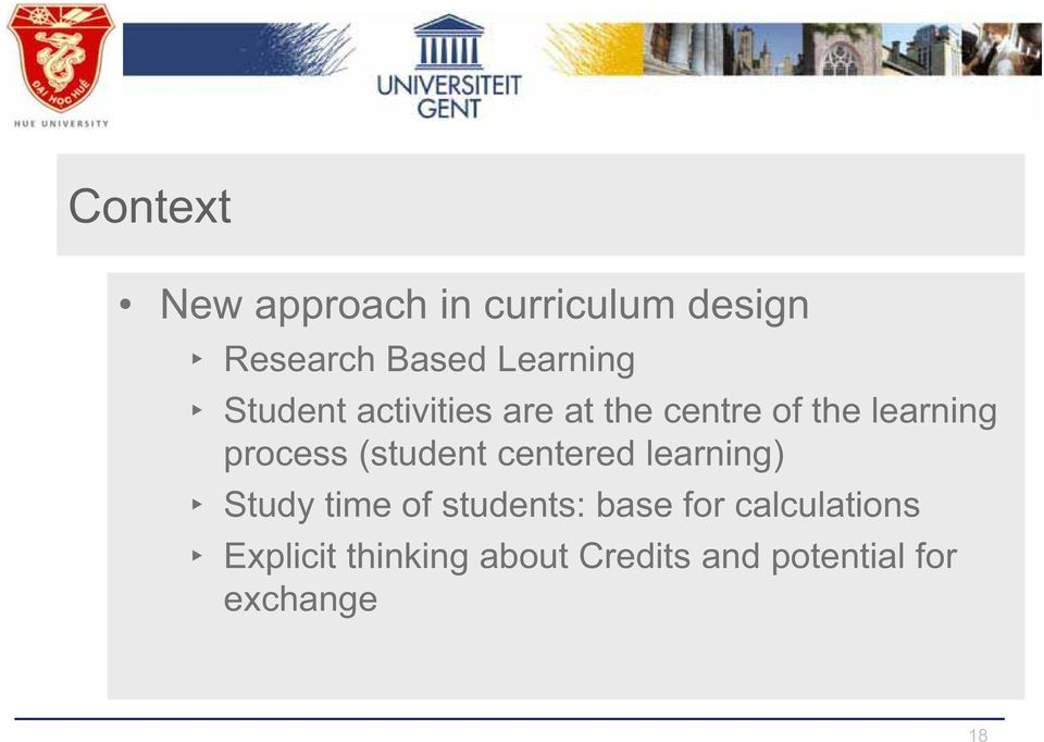 (student centered learning) Study time of students: base for
