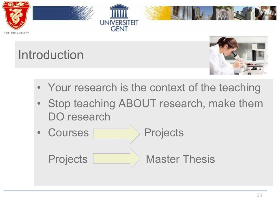 ABOUT research, make them DO research