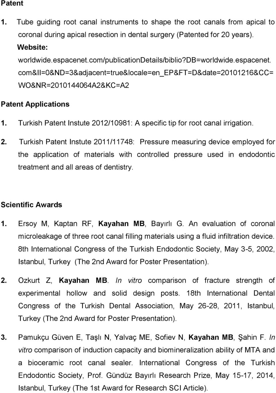 Turkish Patent Instute 20