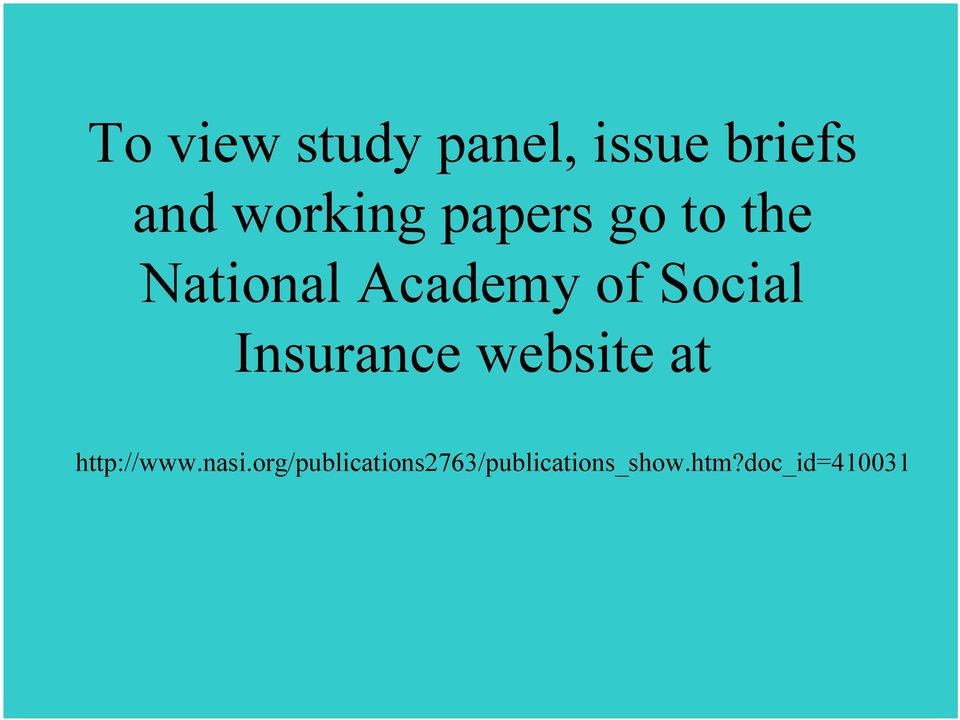 Insurance website at http://www.nasi.