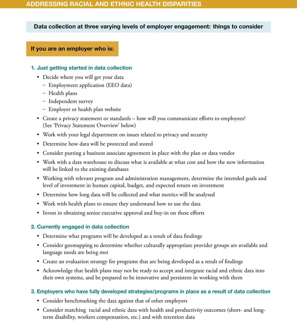 statement or standards how will you communicate efforts to employees?
