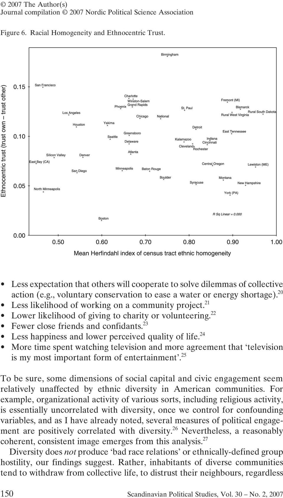23 Less happiness and lower perceived quality of life. 24 More time spent watching television and more agreement that television is my most important form of entertainment.