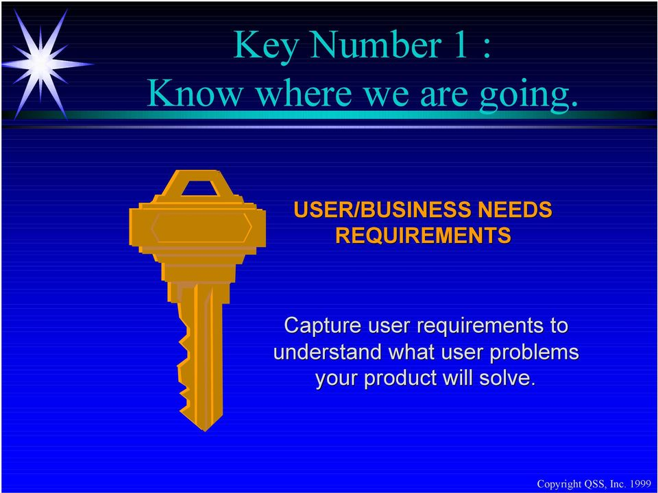 Capture user requirements to