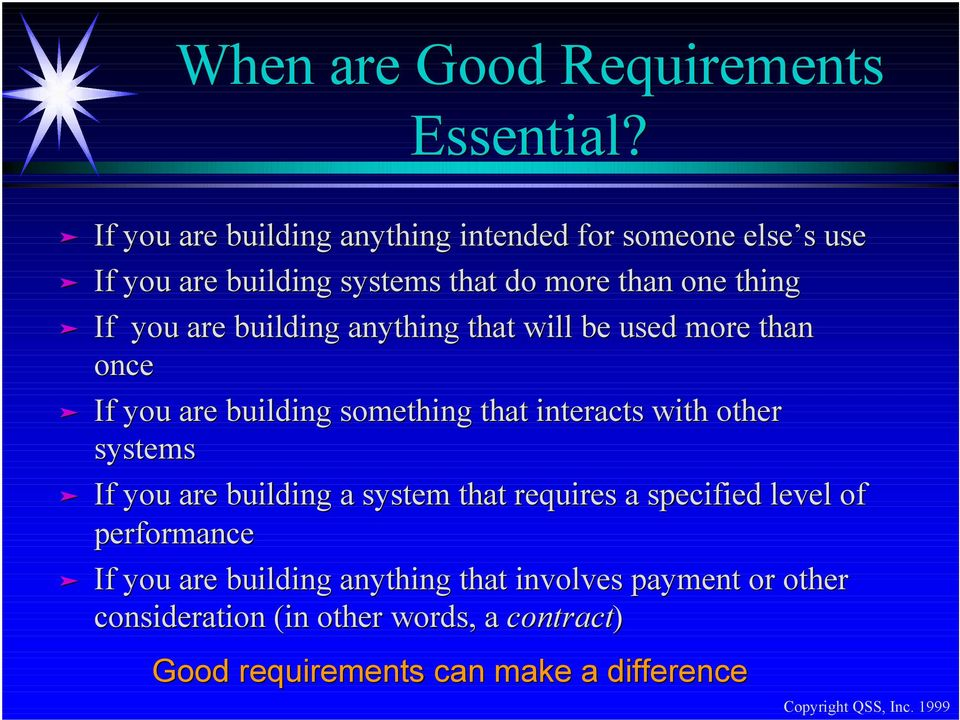 are building anything that will be used more than once If you are building something that interacts with other systems If