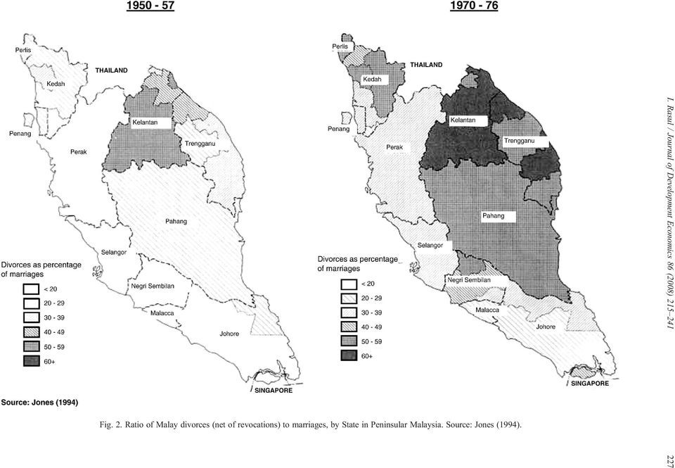 5 241 Fig. 2. Ratio of Malay divorces (net of