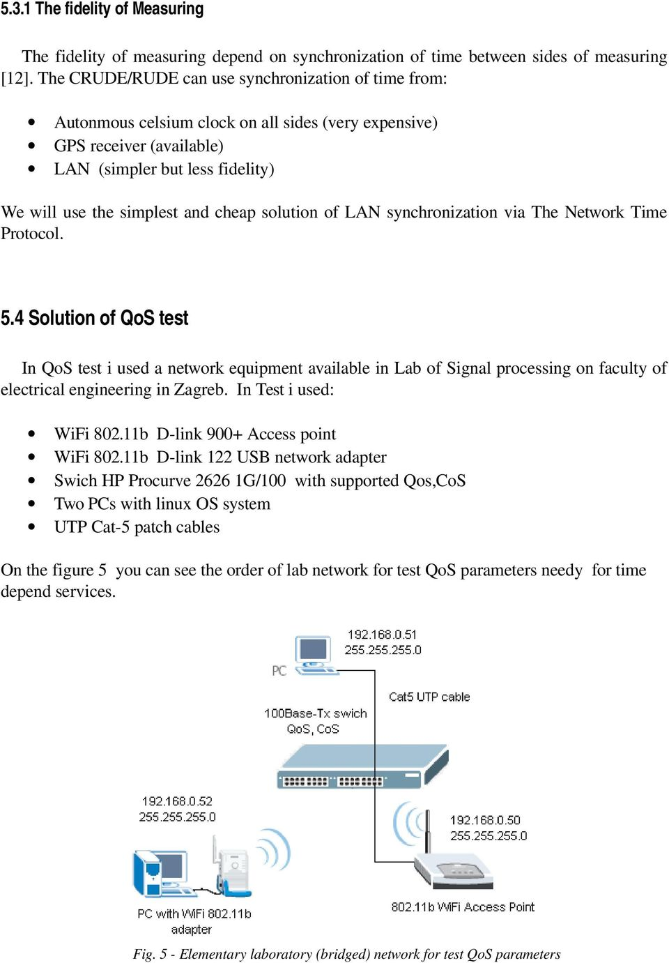 solution of LAN synchronization via The Network Time Protocol. 5.