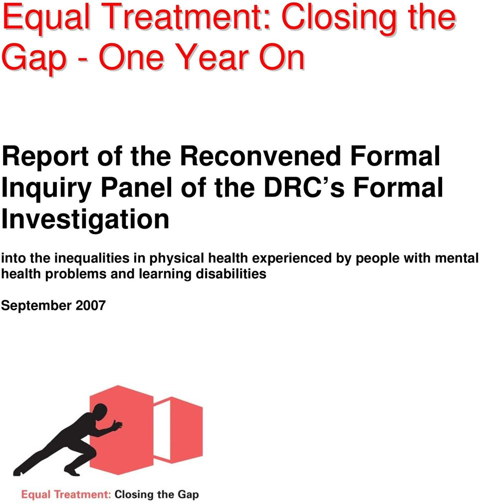 Investigation into the inequalities in physical health