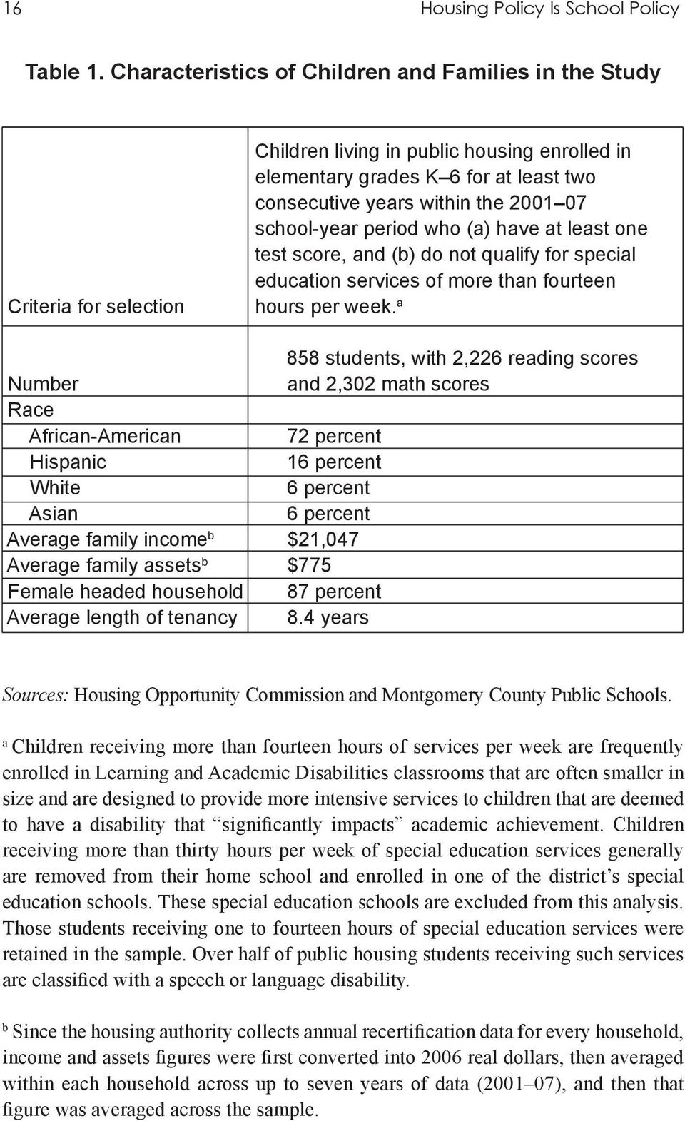 school-year period who (a) have at least one test score, and (b) do not qualify for special education services of more than fourteen hours per week.