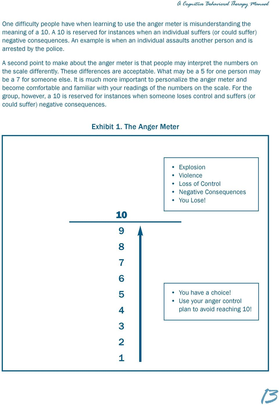 A second point to make about the anger meter is that people may interpret the numbers on the scale differently. These differences are acceptable.