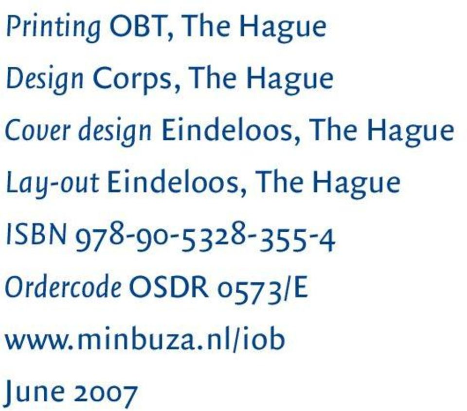 Lay-out Eindeloos, The Hague ISBN