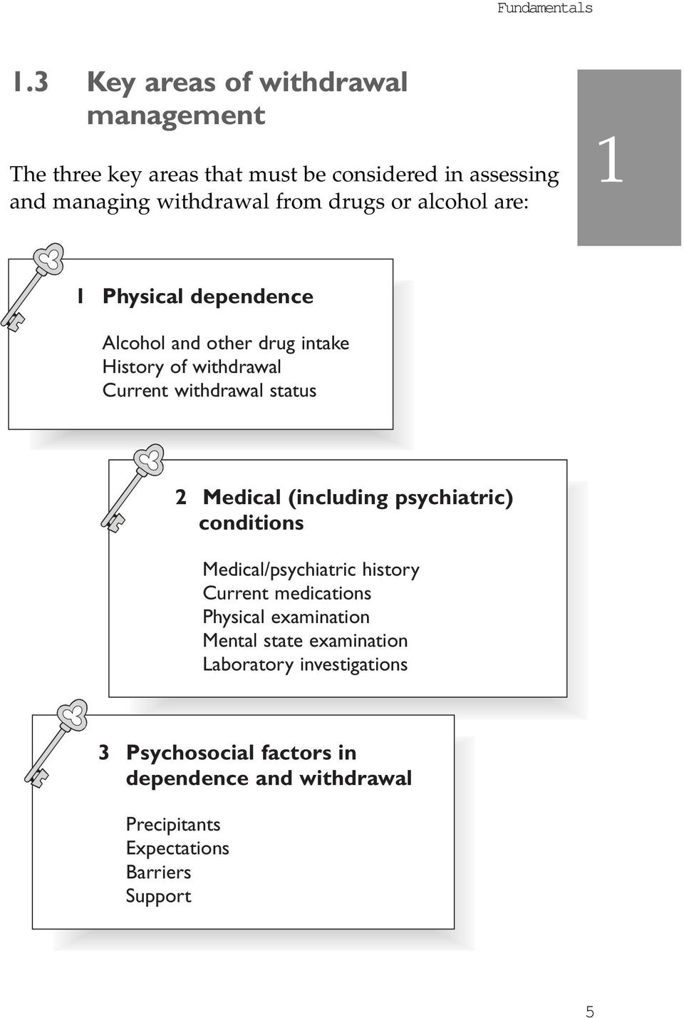 or alcohol are: 1 1 Physical dependence Alcohol and other drug intake History of withdrawal Current withdrawal status 2 Medical