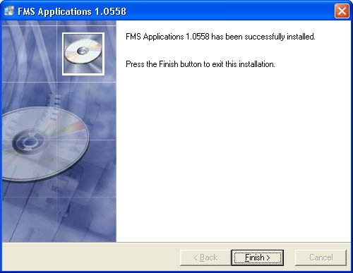 Click the Finish button to complete the installation.
