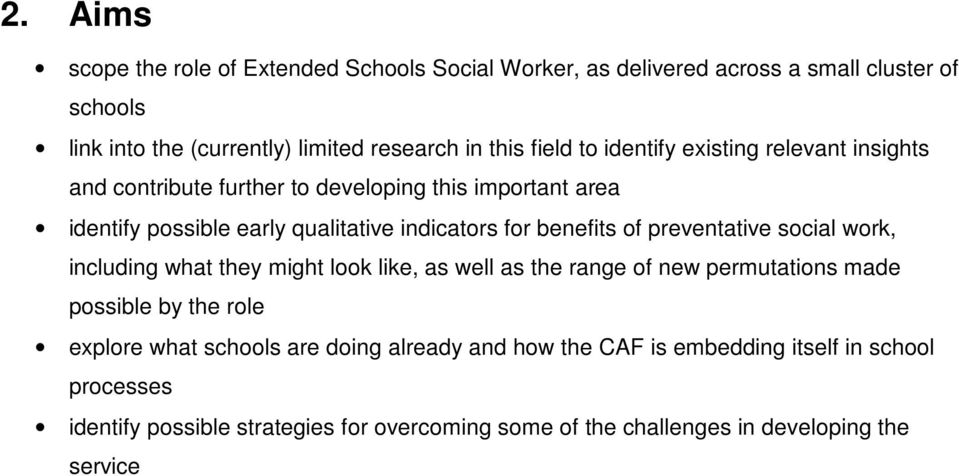 benefits of preventative social work, including what they might look like, as well as the range of new permutations made possible by the role explore what
