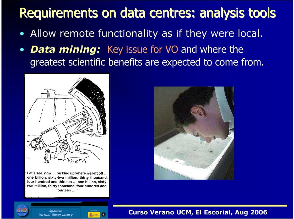Data mining: Key issue for VO and where the