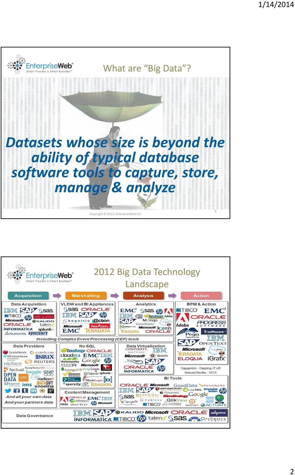 database software tools to capture, store, manage & analyze