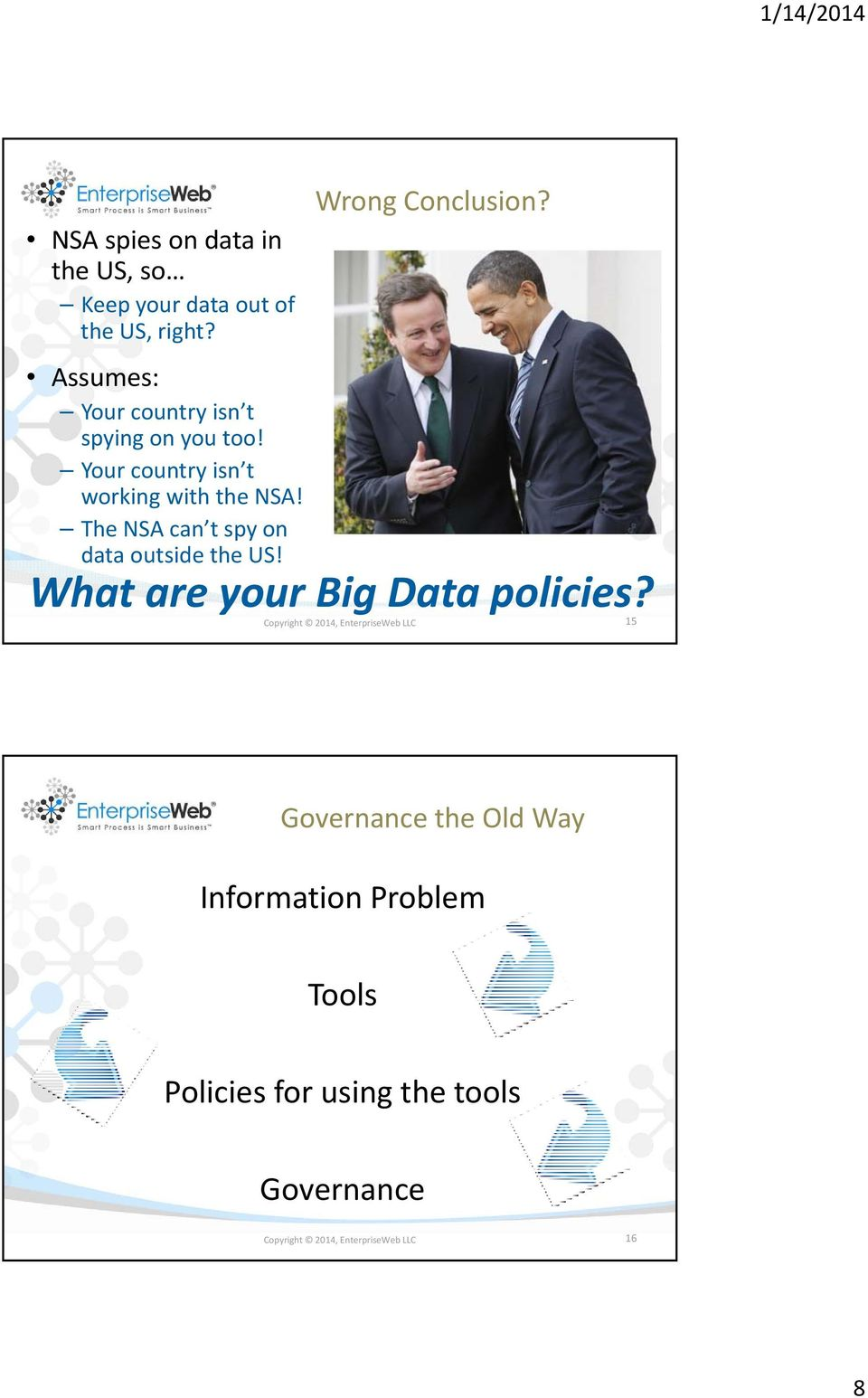 The NSA can t spy on data outside the US! Wrong Conclusion? What are your Big Data policies?