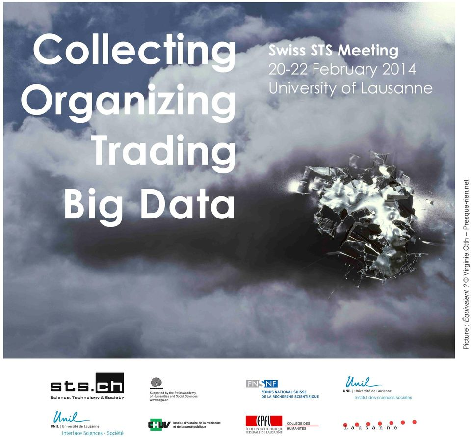 net Collecting Organizing Trading Big Data Institut des sciences
