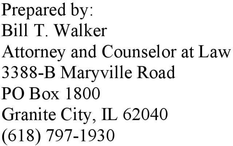 Law 3388-B Maryville Road PO Box