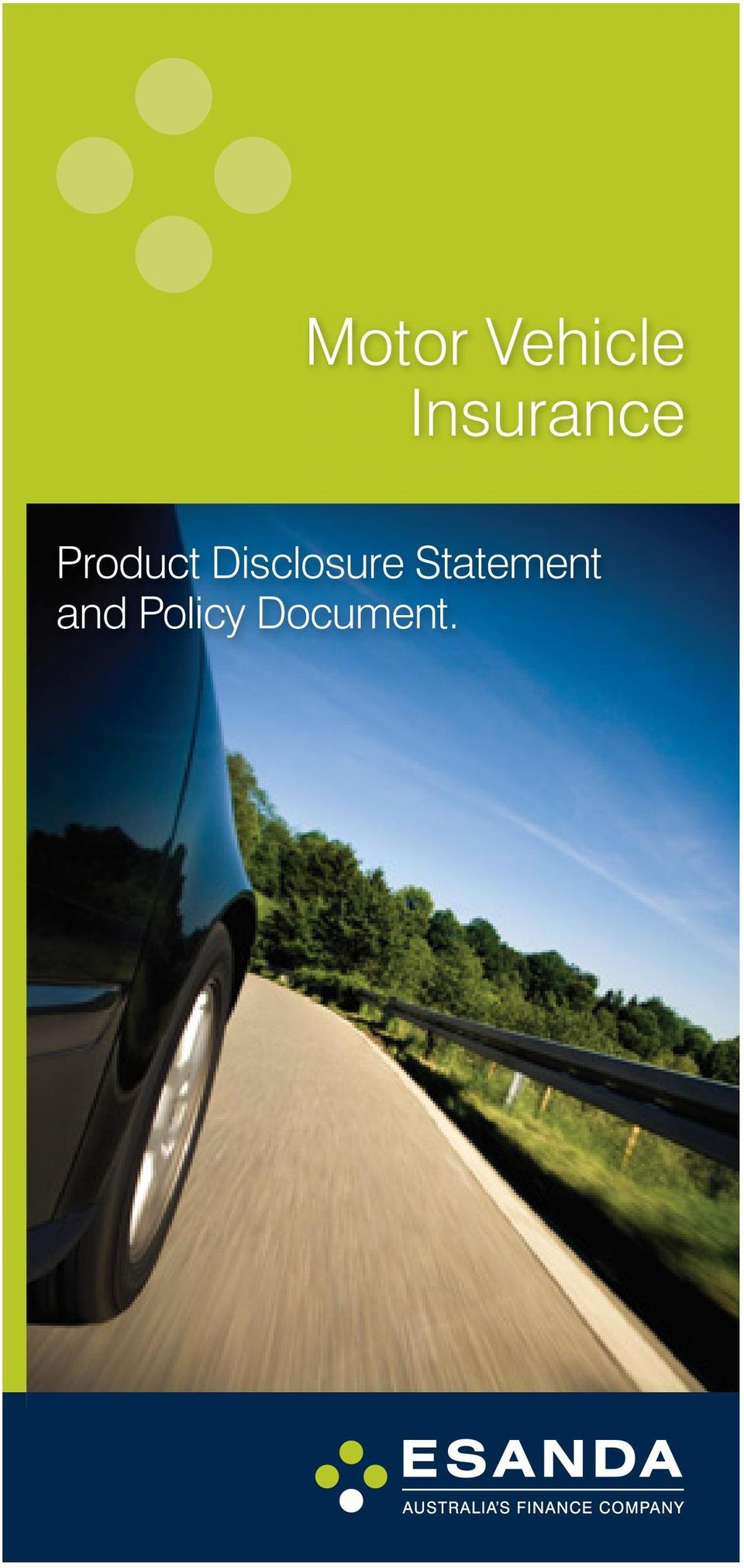 Disclosure Statement (Product