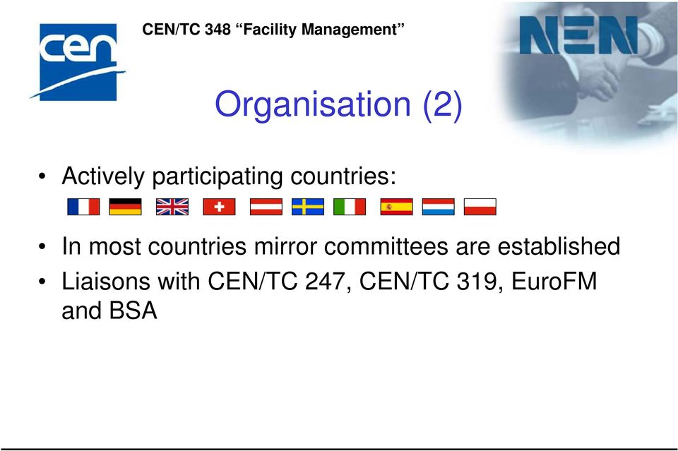 countries mirror committees are