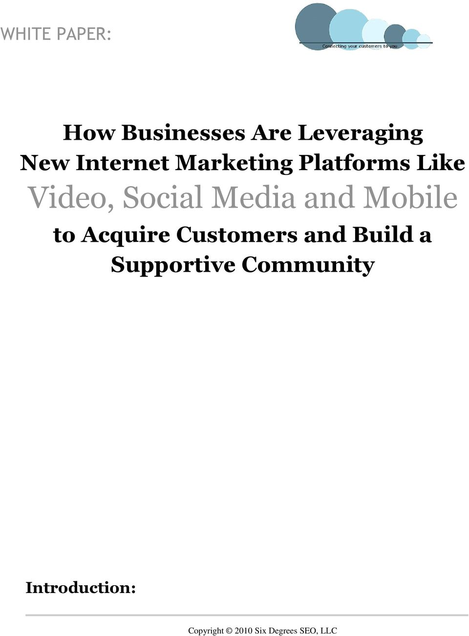 Social Media and Mobile to Acquire Customers