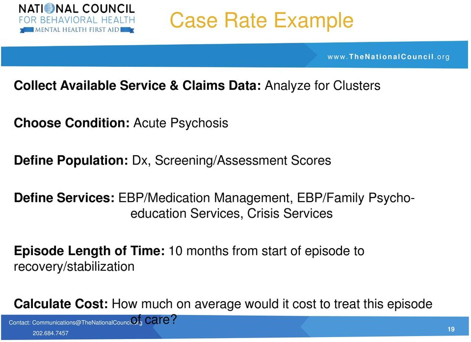 EBP/Family Psychoeducation Services, Crisis Services Episode Length of Time: 10 months from start of