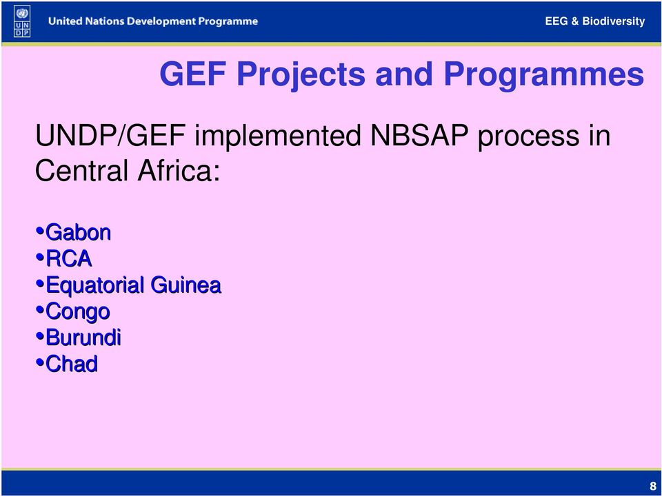 process in Central Africa: Gabon