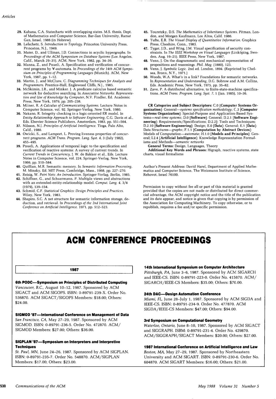 . March 29-31). ACM. New York, 1982, pp. 34-39. 32 Manna, Z.. and Pnueli, A. Specification and verification of cencurrent programs by V-automata.