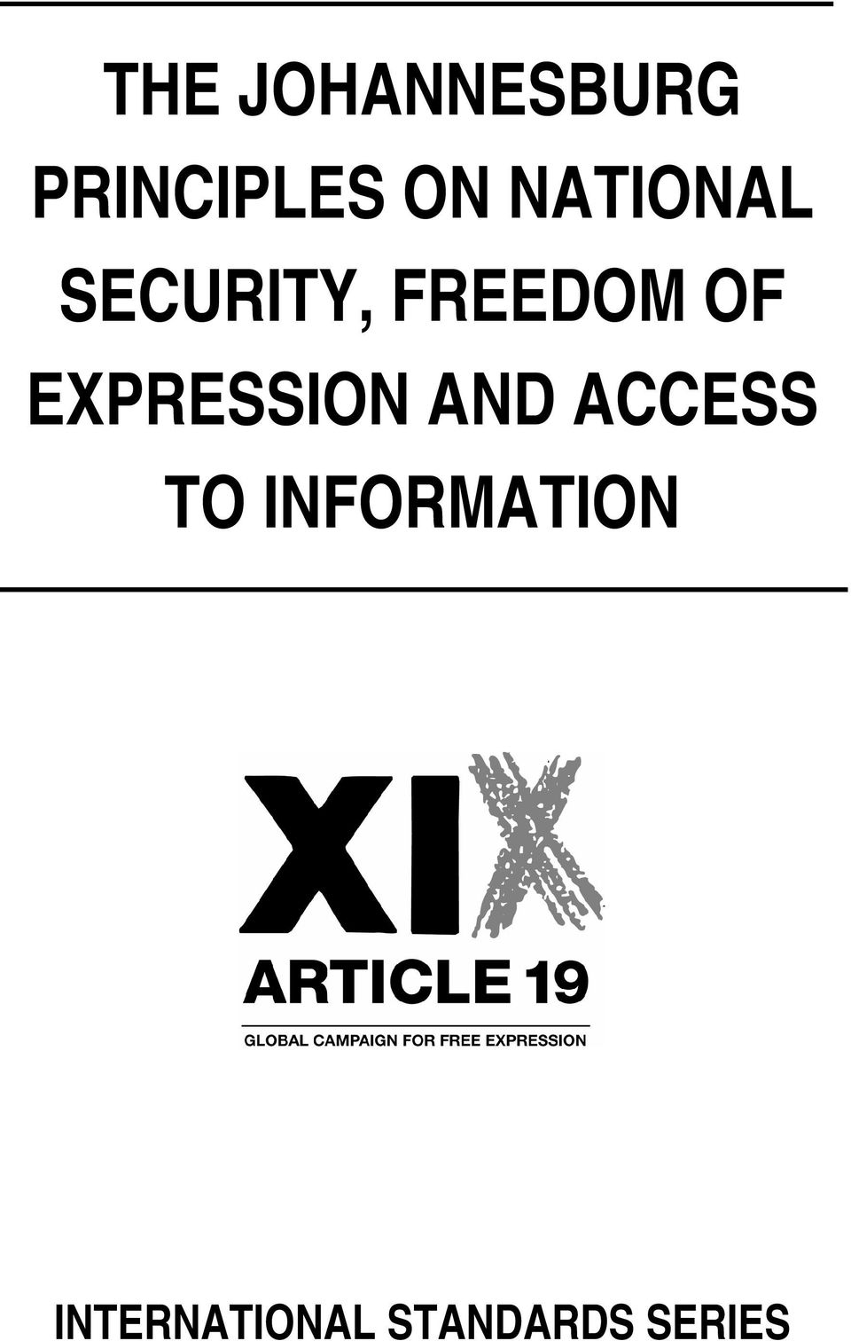 EXPRESSION AND ACCESS TO