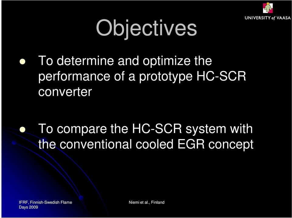 converter To compare the HC-SCR system