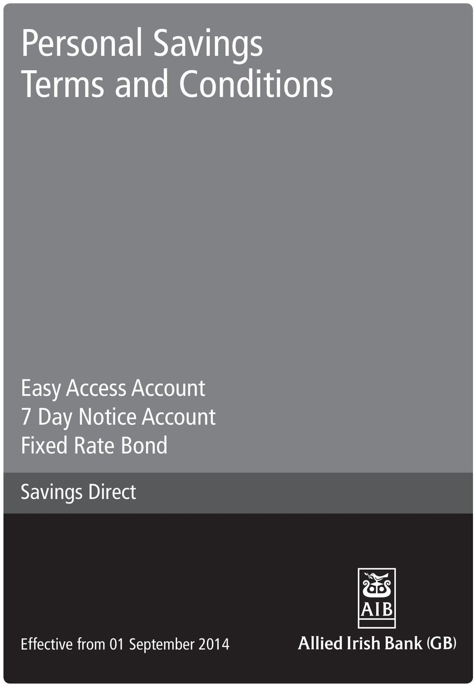Day Notice Account Fixed Rate Bond