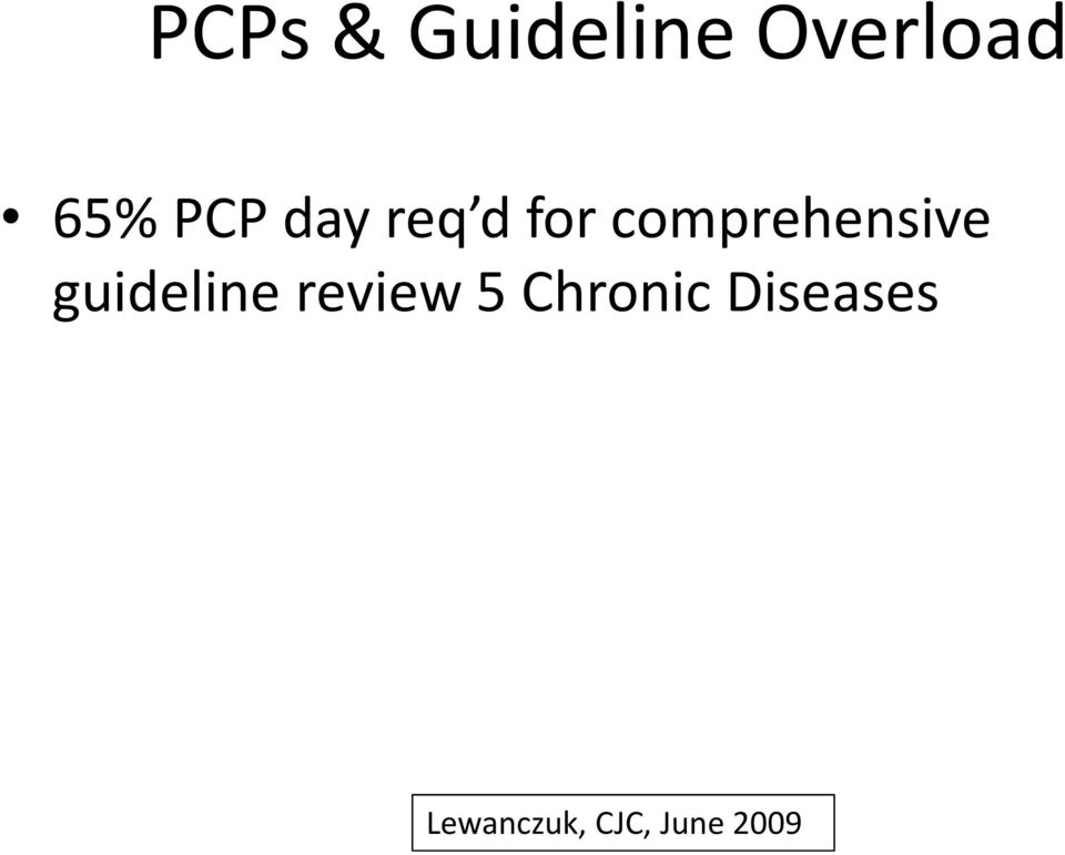 guideline review 5 Chronic