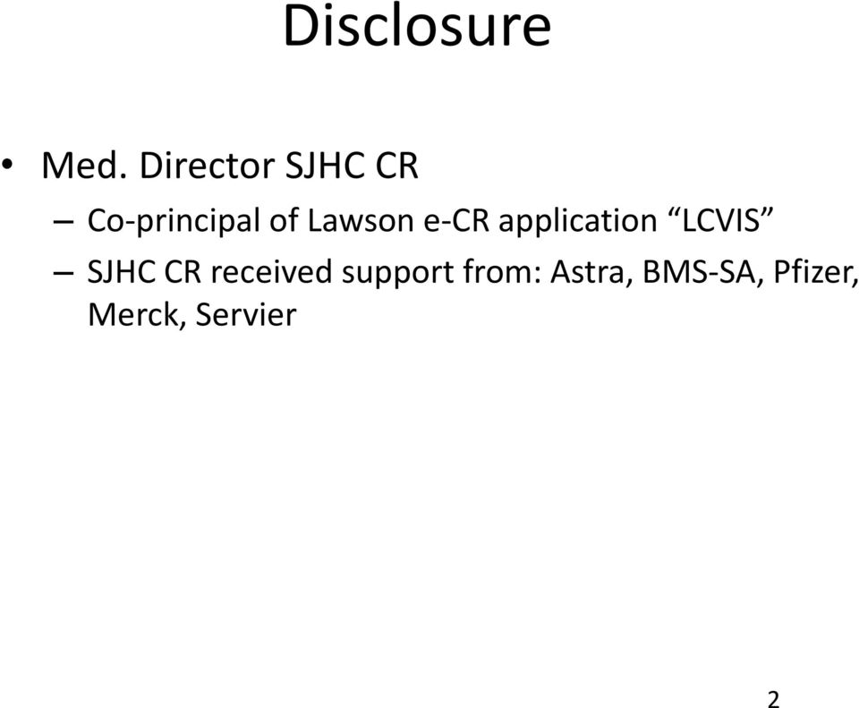 Lawson e-cr application LCVIS SJHC