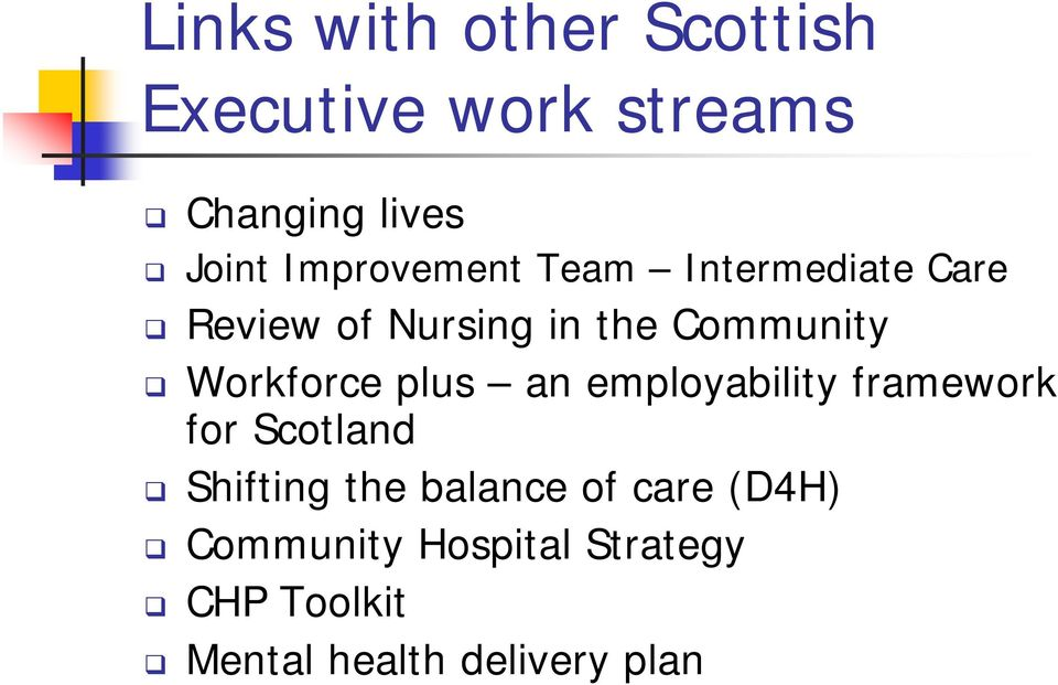 Workforce plus an employability framework for Scotland Shifting the