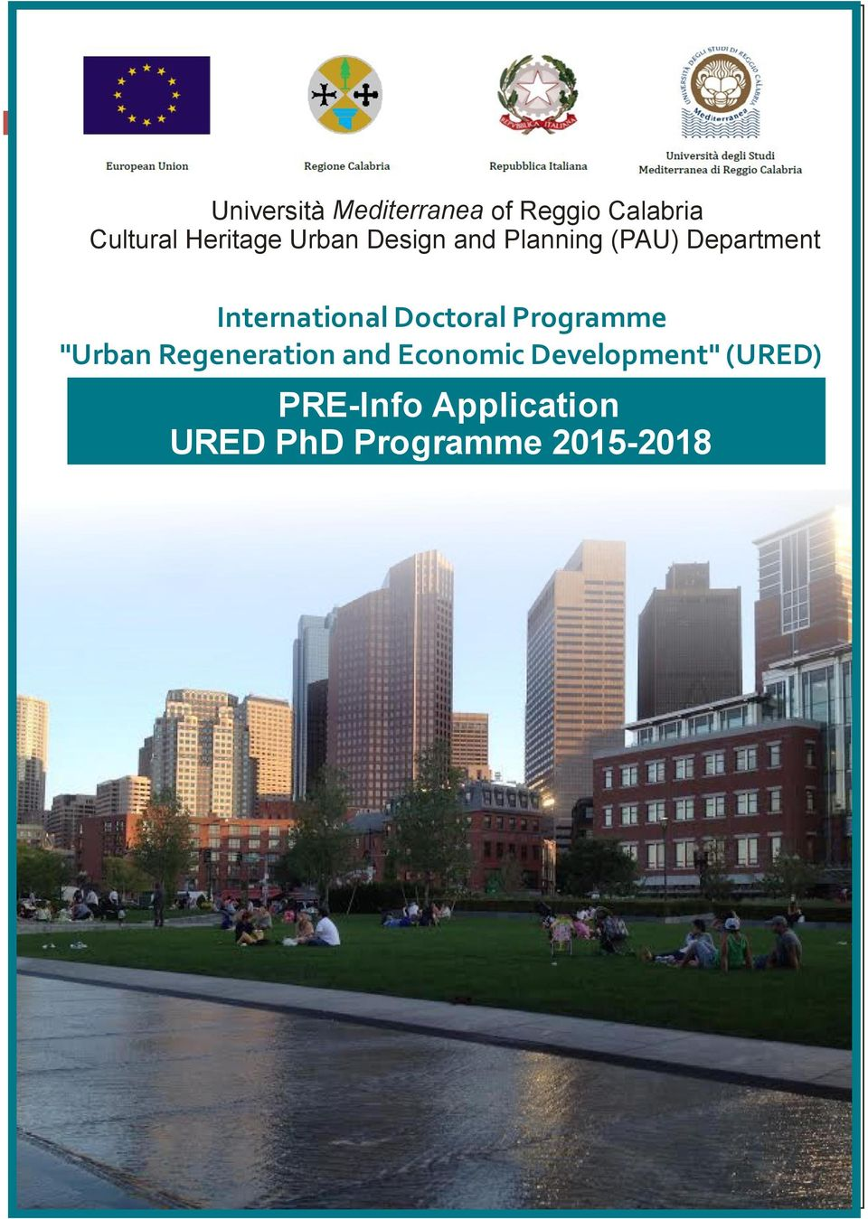 "International Doctoral Programme ""Urban Regeneration and"