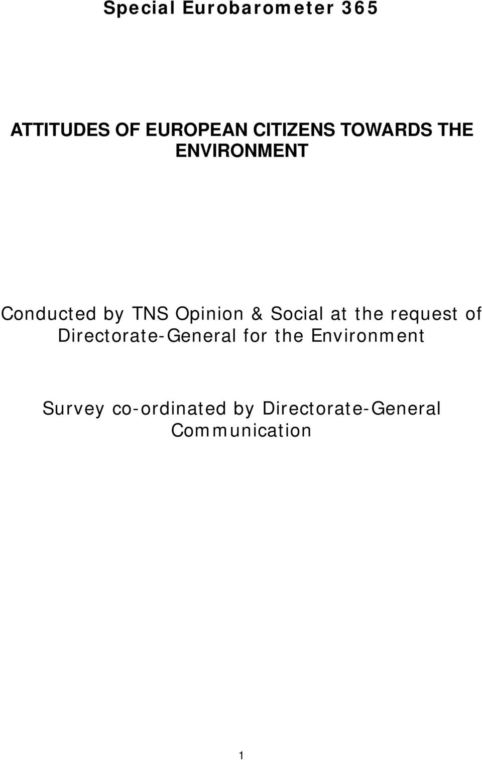 at the request of Directorate-General for the Environment